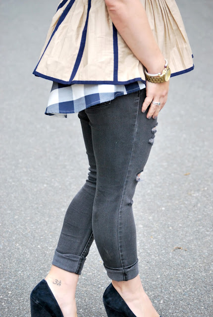 how to style peplum, fall, fall layers