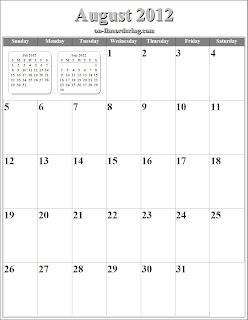 free printable calendar 2012