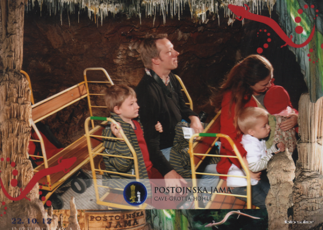 Photo of Julia, Ville, Matti, Anton and Neve bought at Postojna Caves.