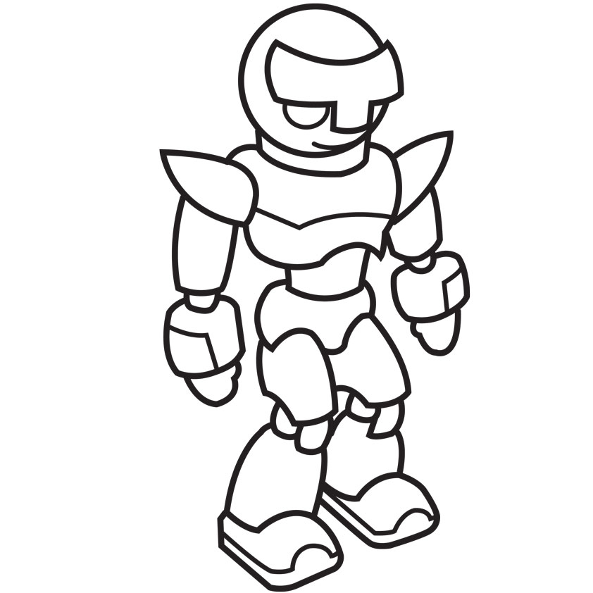 Robot Coloring Pages For Toddlers