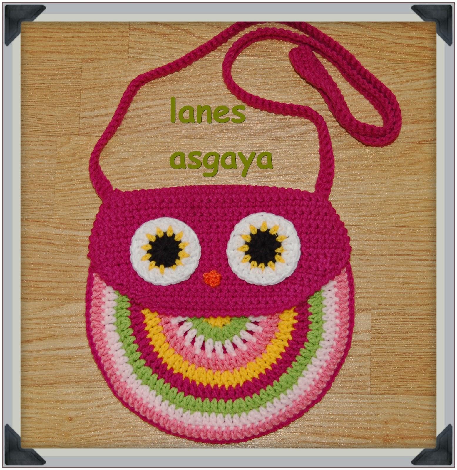lanes asgaya: BOLSO BÚHO A CROCHET