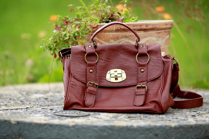 hnědá kabelka deichmann, brown bag, gold