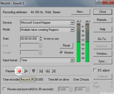 Record Sound Forge 6.0