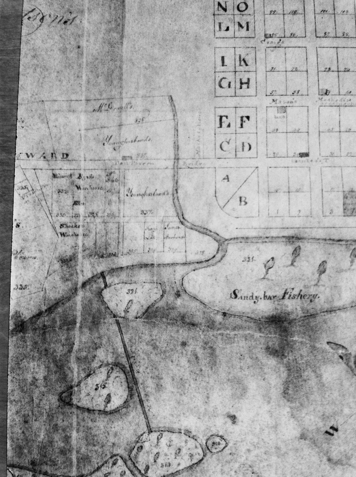 Detail of the 1804 James Map of