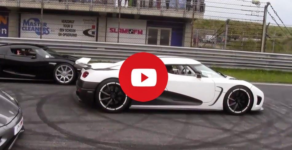 Les Koenigseggs dominent sur la piste