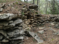 Pedres amuntegades de la barraca de vinya dels Solells de Vilaterçana