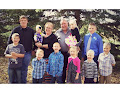 Grandpa & Nana with all ten Grandkids