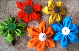 Flower Hair Ties/Clips