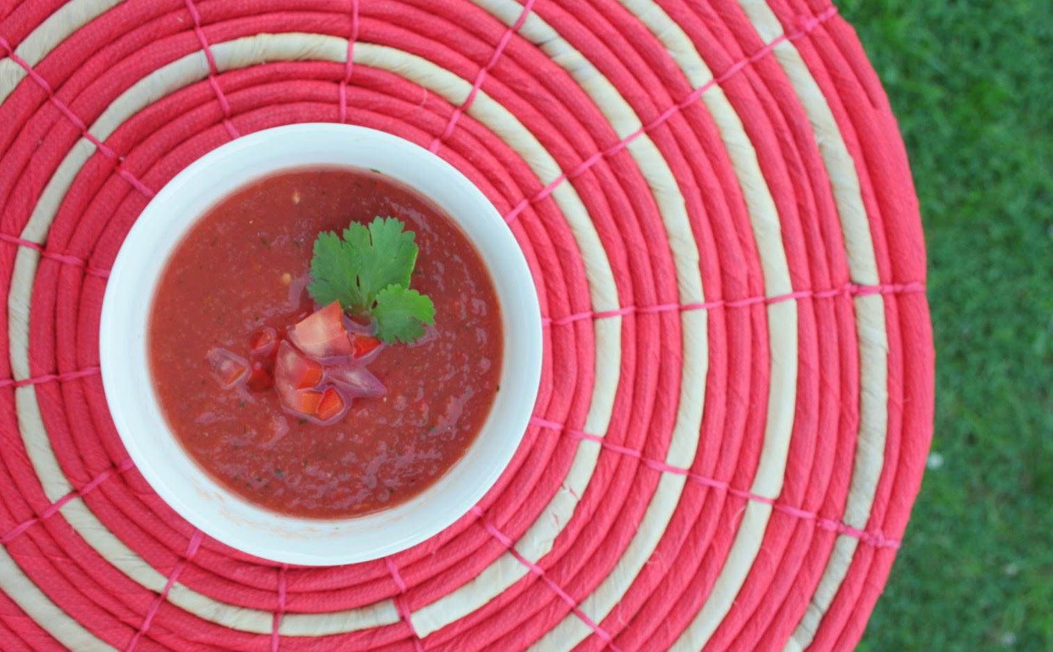 Summery gazpacho - healthy, light, easy to make and very refreshing