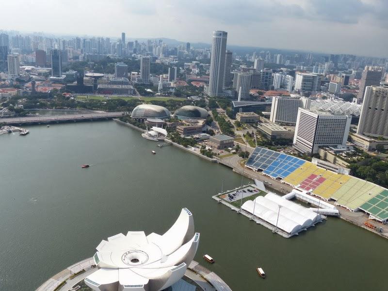 marina centre area  from Sands SkyPark Observation Deck, Marina Bay Sands
