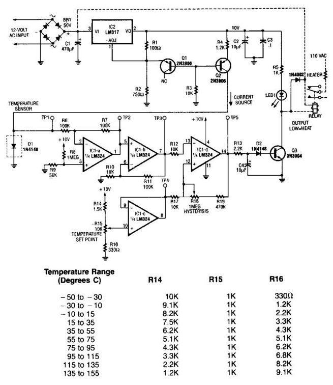 Lm35 Temperature Sensor Circuit Diagram