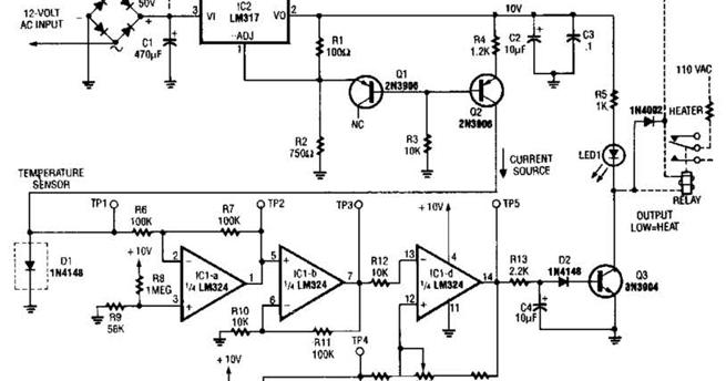 electronics projects  lm35 temperature sensor circuit diagram