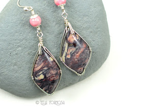 Sci Fi Exotica Porcelain Jasper Earrings