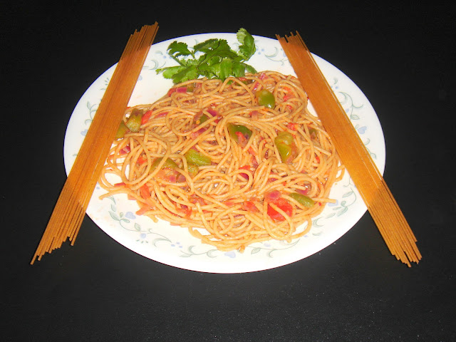 Spaghetti in Indian Style