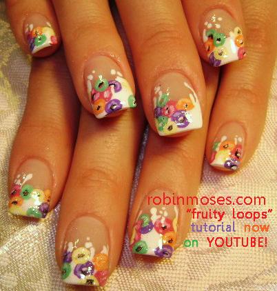 Robin moses nail art fruit loop nail art cereal nail art cereal nail art tutorial easy diy fruit loops nails cute nail designs prinsesfo Gallery