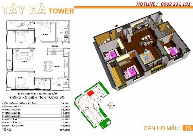 Căn số 15 chung cư Tây Hà Tower