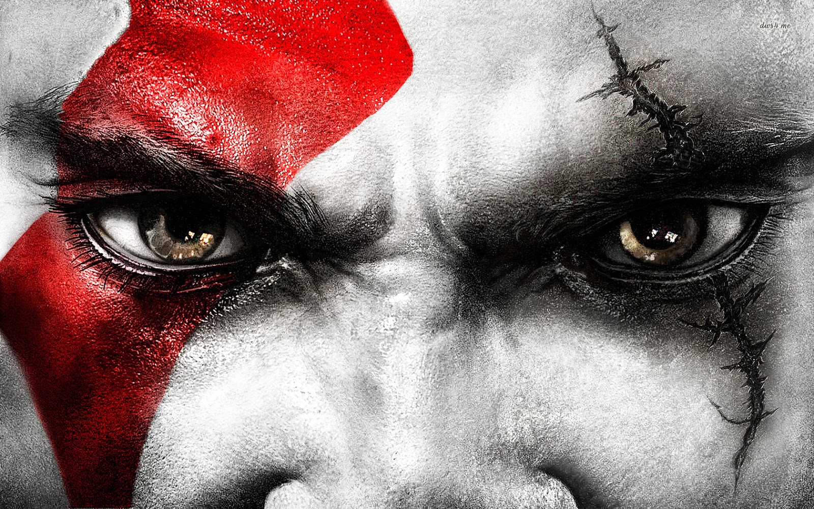 dare look at my eyes ; kratos god of war