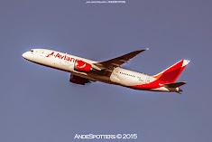 Avianca inicia operaciones con el Boeing 787 Dreamliner en Santiago de Chile
