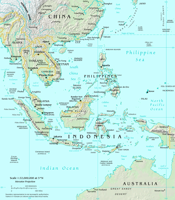 Major Ports Of The World Map Of South East Asia – East Asia and Southeast Asia Map