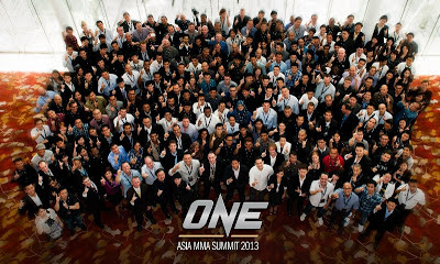 ONE FC Network group photo at ONE Asia MMA Summit 2013 Singapore
