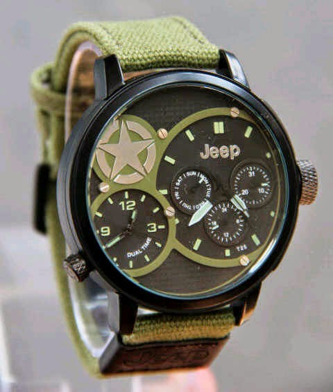 Jeep Kanvas Dual Time hijau muda