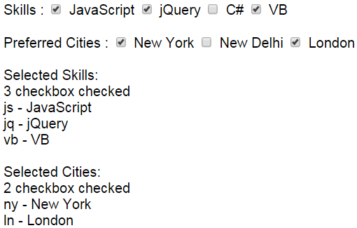 jQuery get checkbox checked text
