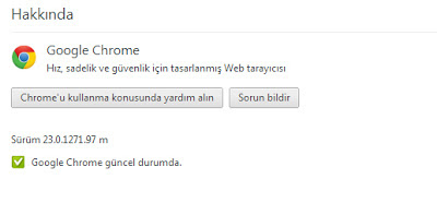 Google Chrome 23 Güncelleme