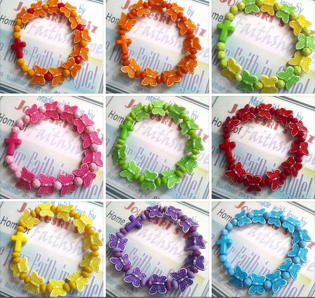 Kiddie Bracelets Joyceski S Faithshoppepe Produces Many Of These Cute Bracelets For Your Little Girls If You Visit Their Page You Will Be Amazed Of The
