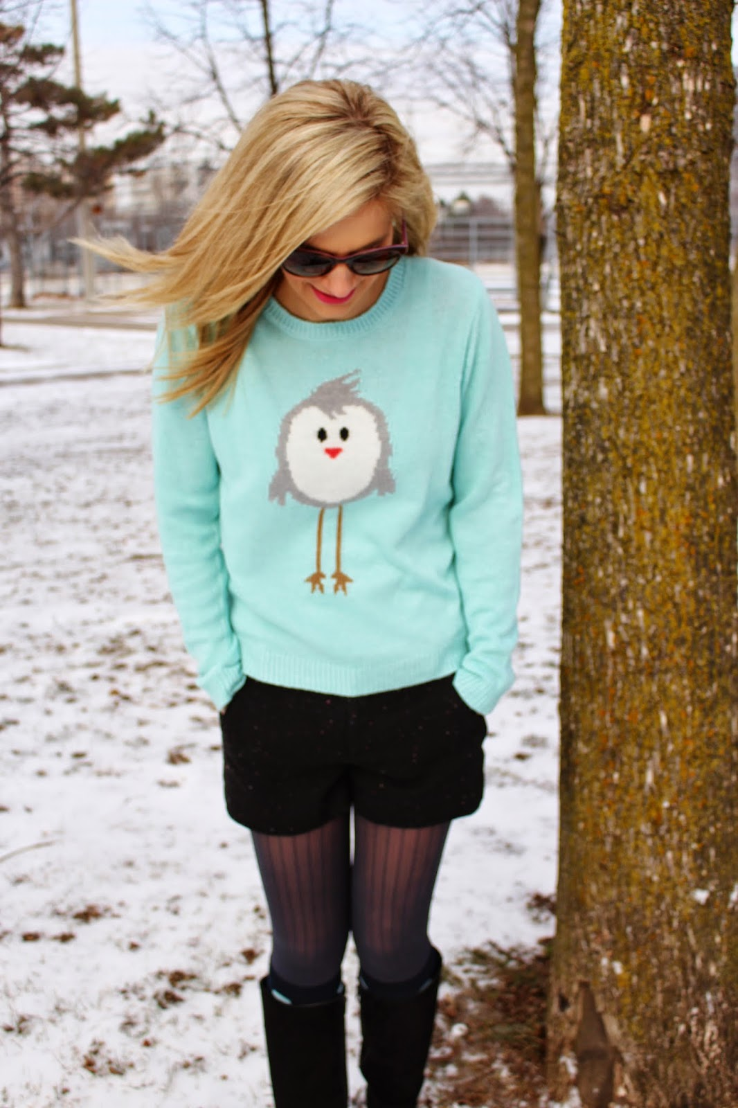 bijuleni - bird mint sweater