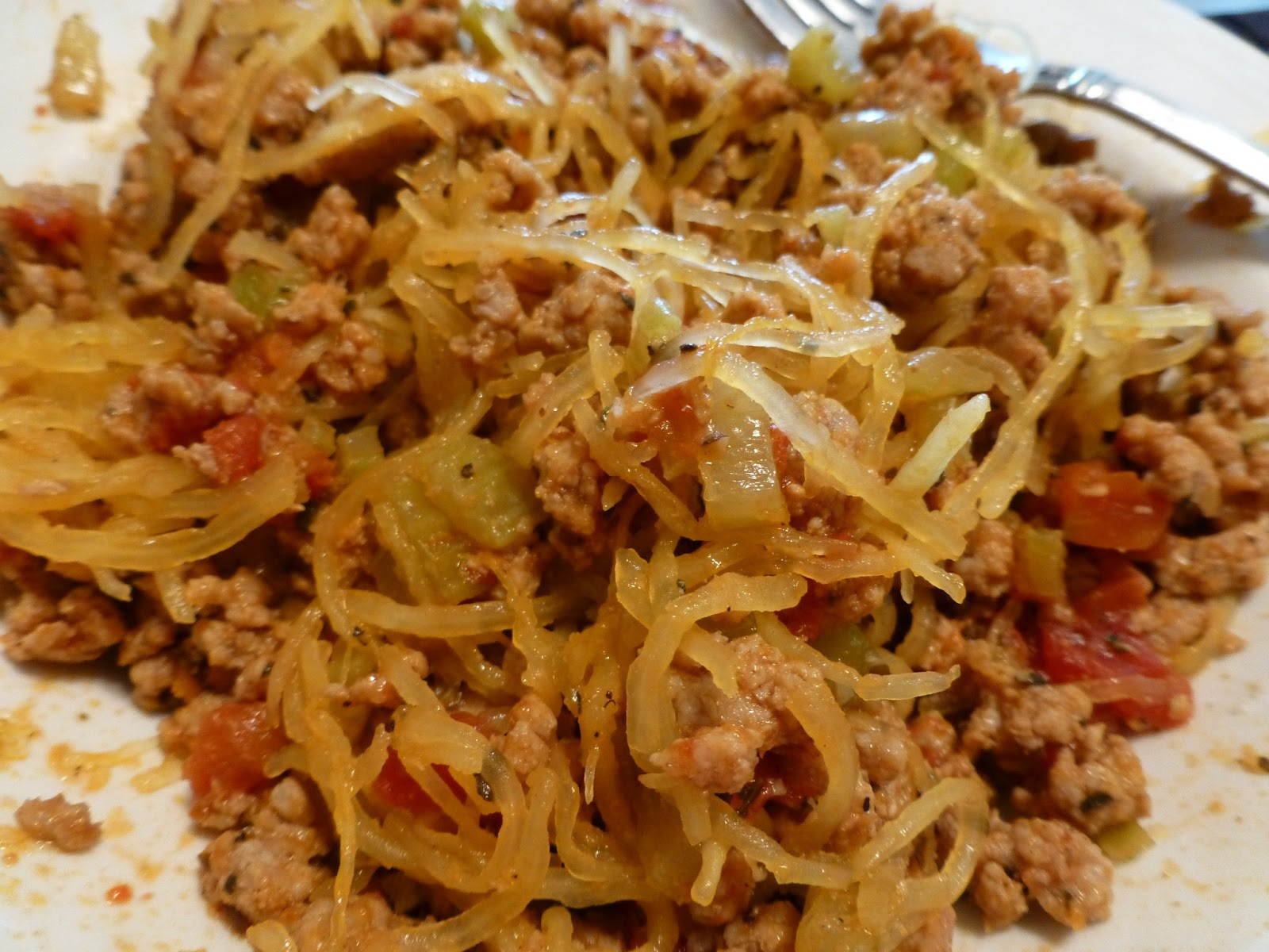 ... One Fat Girl's Journey to Getting Healthy: Spaghetti with Meat Sauce