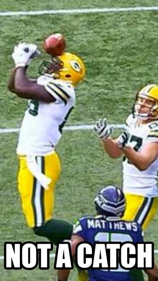 Not a Catch. - #BrandonBostick #NotaCatch #Packershaters #SeahawksvsPackers