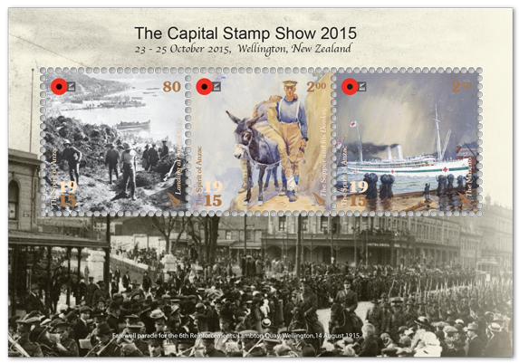 To Commemorate The Capital Stamp Show 2015 New Zealand Post Issued An Exhibition Miniature Sheet And Souvenir Cover