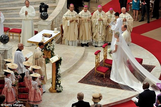 Prince Albert and Princess Charlene in America Monaco_wedding