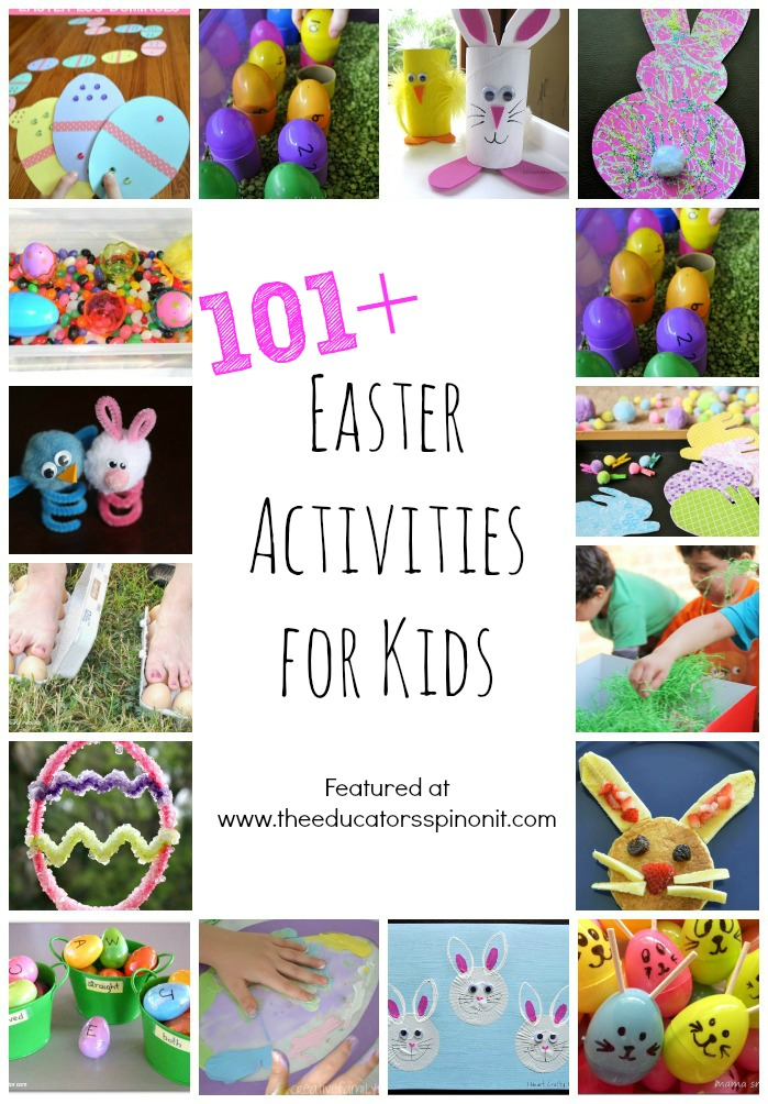 The absolute, must try 101+ Easter Activities for Kids! Easter crafts, Easter snacks, Easter learning activities, Easter science and more!