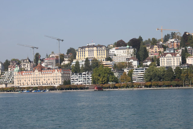 Some hotels are situated along Lake Lucerne in Lucerne, Switzerland