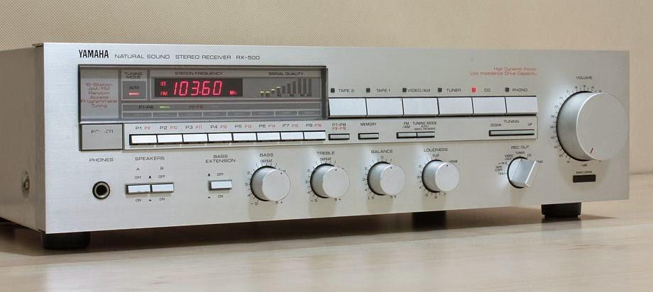 Yamaha rx 500 stereo receiver audiobaza for Yamaha rx v450 av receiver price