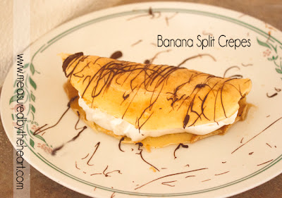 crepe recipe, banana, chocolate drizzle