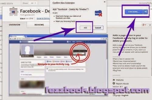menghapus history facebook otomatis