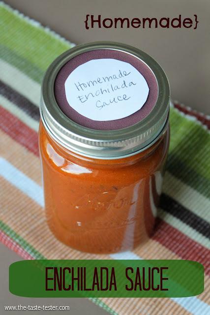 Homemade Enchilada Sauce #recipe #sauce www.the-taste-tester.com