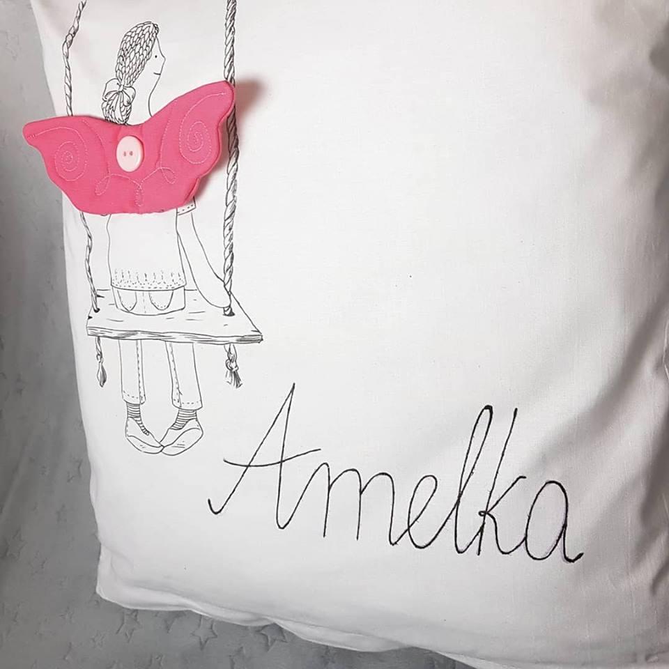"""Poduszka """"Anielica"""" personalizowana"""