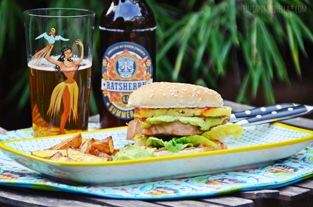luzia pimpinella | rezept: gegrilllter teryaki tuna burger mit ananas | recipe: grilled teryaki tuna burger with pineapple