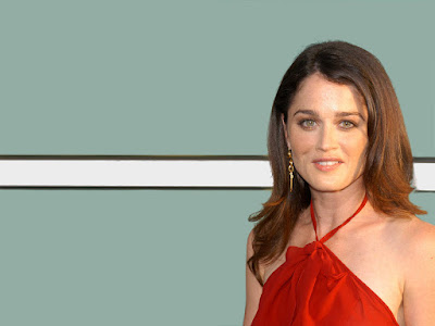 Robin Tunney In Red Dress Wallpaper