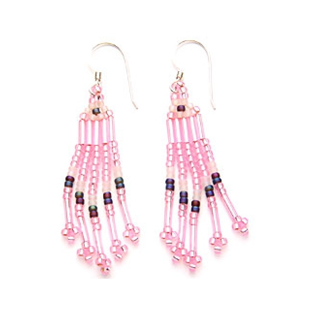 Brick Stitch Earrings in Beading http://blog.weekendkits.com/2012/06/earring-kits-bead-stitching-for.html