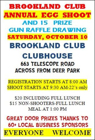10-10 Annual Egg Shoot & Gun Raffle