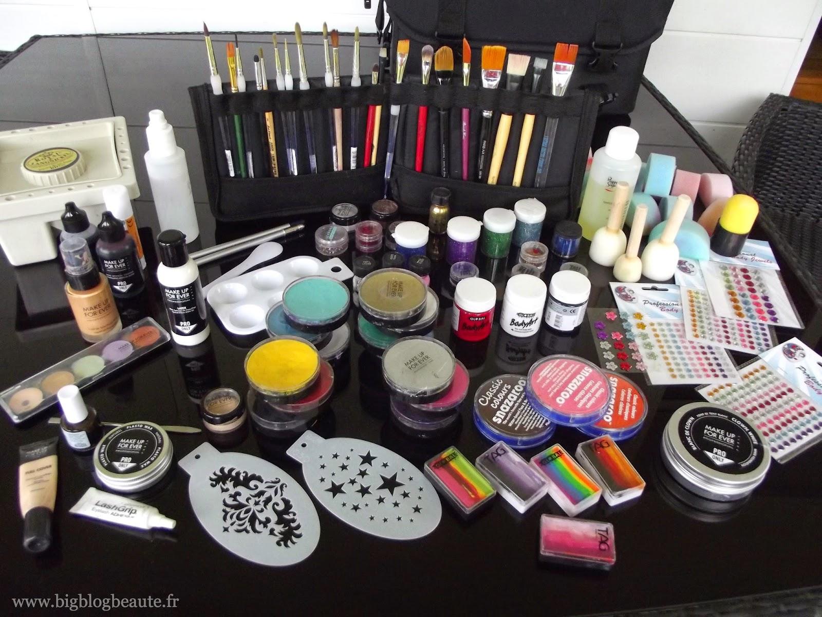 Face painting le mat riel avoir pour le maquillage for Produit de lustrage professionnel