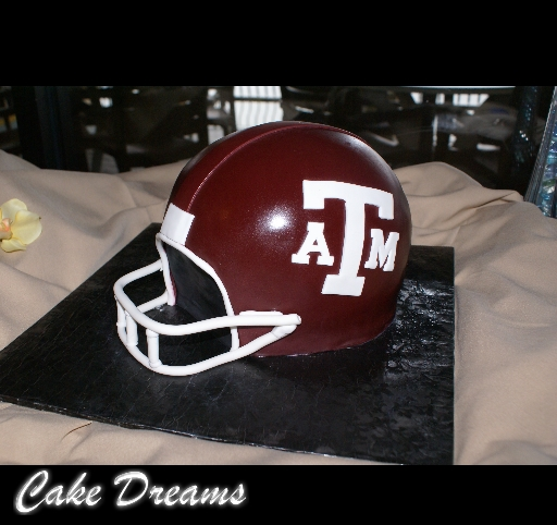 football helmet cake. Texas Aamp;M Football Helmet Cake