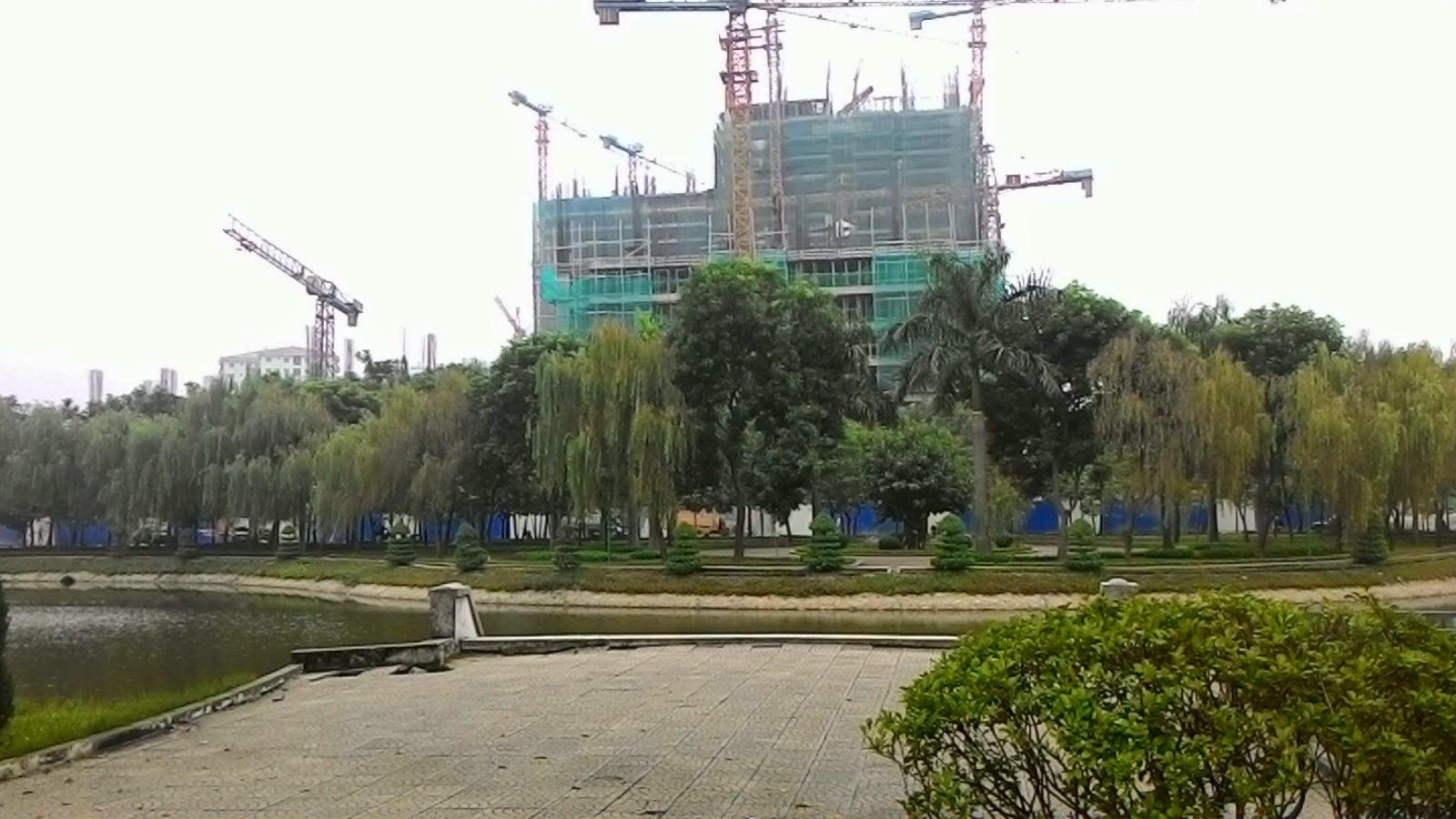 Chung cư HH3 Linh Đàm nhìn từ khuôn viên