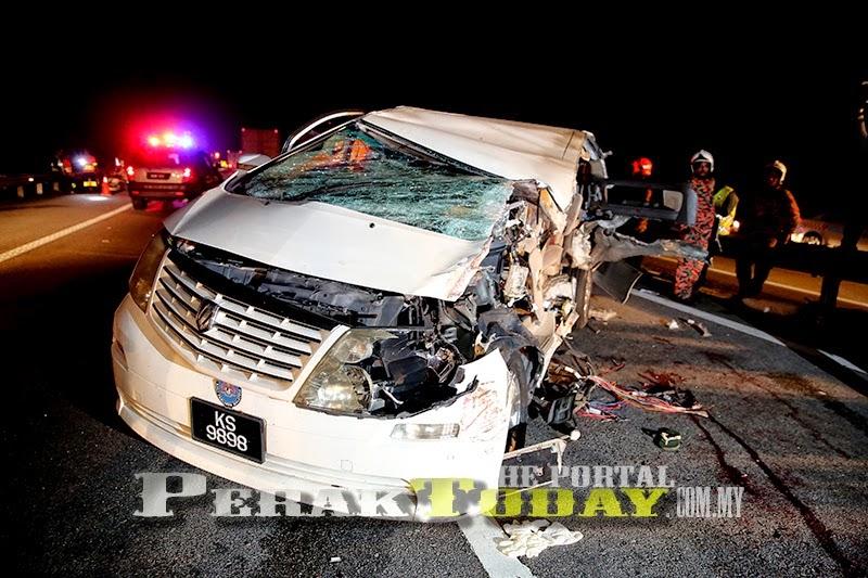 [14 Gambar] Kemalangan Maut Membabitkan Karpal Singh di Tapah