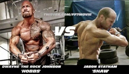 Aksi Dwayne Johnson VS Jason Statham Fast Furious 7