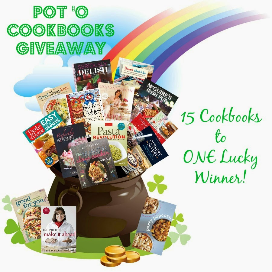 Get entered to win 15 different cookbooks!
